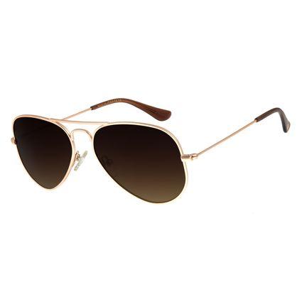 Óculos De Sol Unissex Chilli Beans Aviador Rosê OC.MT.2511-5795