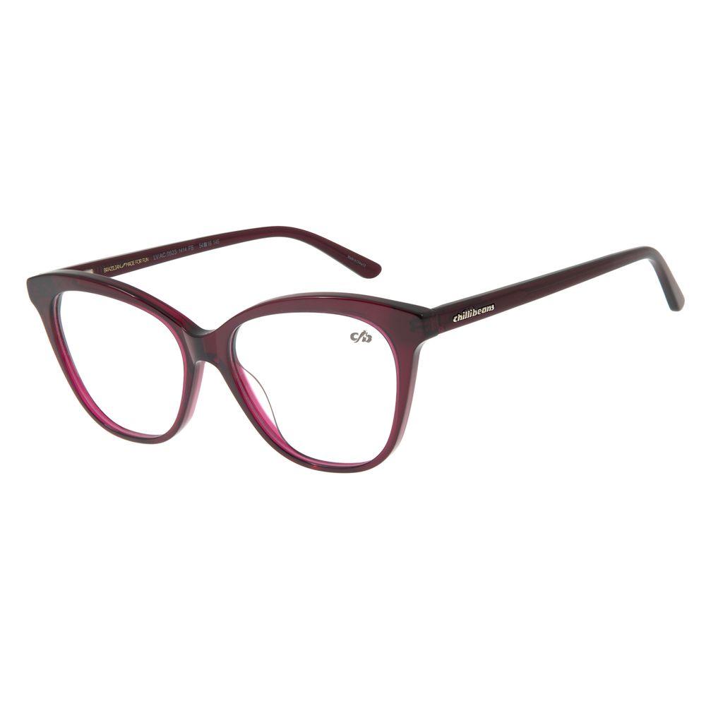 Armação Para Óculos De Grau Feminino Cat Roxo LV.AC.0523-1414
