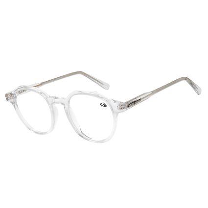 Armação Para Óculos De Grau Unissex Redondo Transparente LV.AC.0618-3636