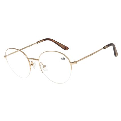 Armação Para Óculos De Grau Feminino Redondo Dourado LV.MT.0354-2121