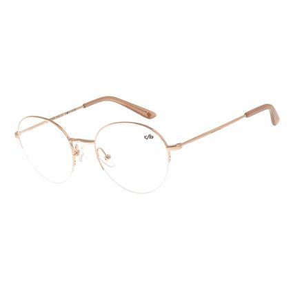 Armação Para Óculos De Grau Feminino Redondo Rosê LV.MT.0354-9595
