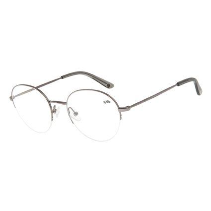 Armação Para Óculos De Grau Feminino Redondo Grafite  LV.MT.0354-2424