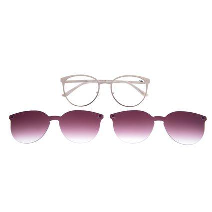 Armação Para Óculos De Grau Feminino Multi 2 em 1 Dourado LV.MU.0271-2121