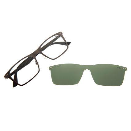 Armação Para Óculos De Grau Masculino Multi Cinza Escuro LV.MU.0292-1528