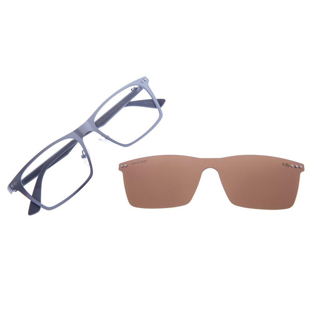 Armação Para Óculos De Grau Masculino Multi Cinza LV.MU.0292-0204
