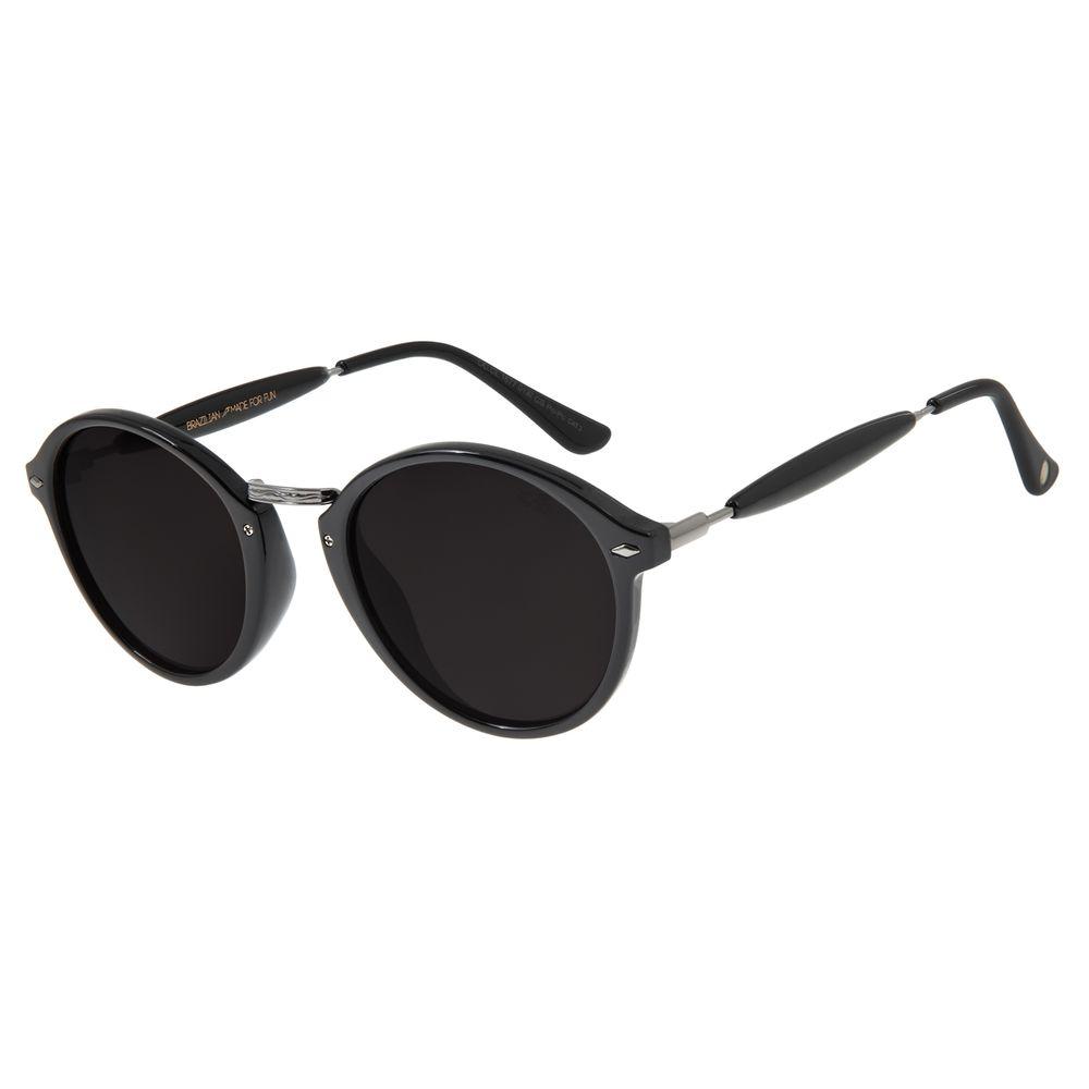 Óculos de Sol Unissex Chilli Beans Essential Redondo Ônix OC.CL.1677-0122