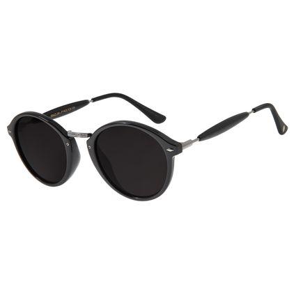 Óculos de Sol Unissex Chilli Beans Redondo Ônix OC.CL.1677-0122