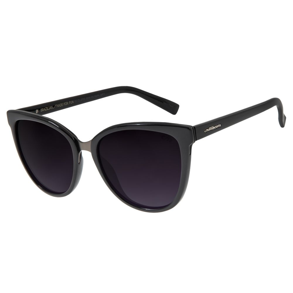 Óculos de Sol Feminino Chilli Beans Redondo Polarizado Brilho OC.CL.2115-2030
