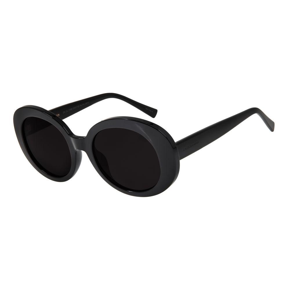 Óculos de Sol Feminino Chilli Beans Redondo 70's Preto OC.CL.2769-0101