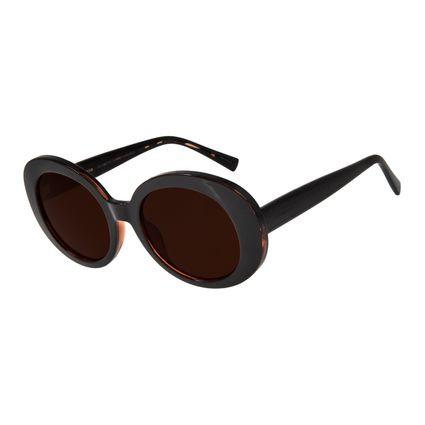 Óculos de Sol Feminino Chilli Beans Redondo 70's Marrom Escuro OC.CL.2769-0247
