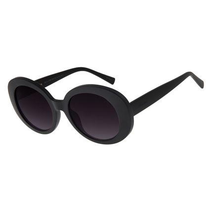 Óculos de Sol Feminino Chilli Beans Redondo 70's Marrom Preto OC.CL.2769-2001
