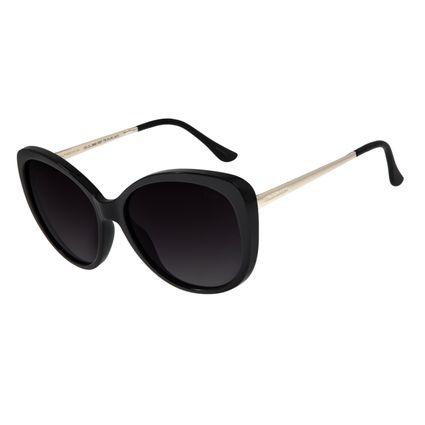 Óculos de Sol Feminino Chilli Beans Redondo Maxi Preto OC.CL.2858-2001