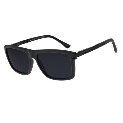 Óculos de Sol Unissex Chilli Beans Quadrado Polarizado Preto OC.CL.2878-0501