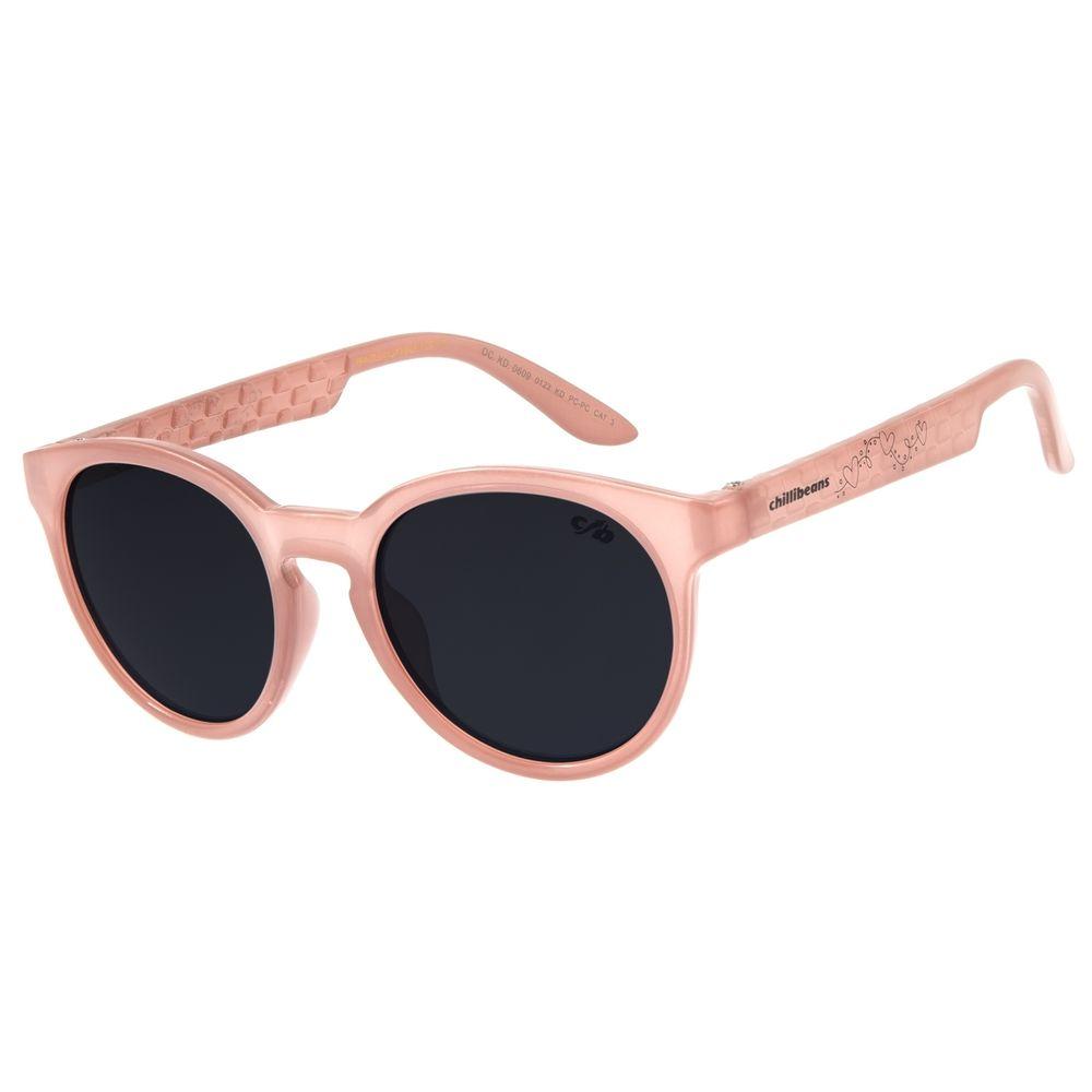 Óculos de Sol Infantil Chilli Beans Redondo Bege OC.KD.0609-0123