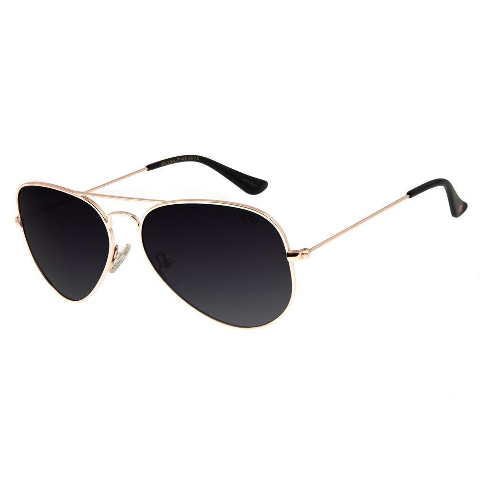 Óculos de Sol Unissex Chilli Beans Aviador Rosê Polariado OC.MT.2514-2095