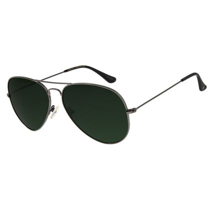 Óculos de Sol Unissex Chilli Beans Aviador Polarizado Verde Escuro OC.MT.2516-2622
