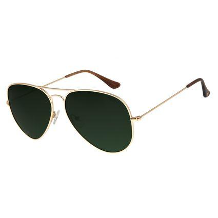 Óculos de Sol Unissex Chilli Beans Aviador Polarizado Dourado OC.MT.2516-1521