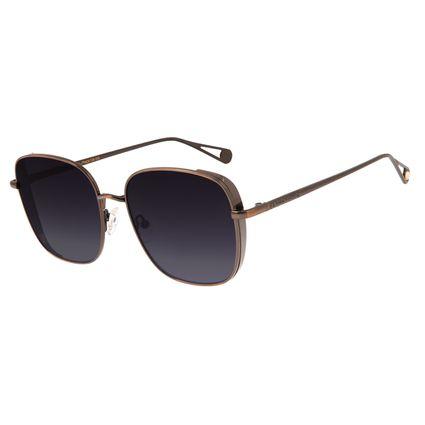 Óculos de Sol Feminino Chilli Beans Quadrado Marrom  OC.MT.2681-2002