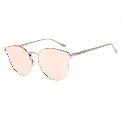 Óculos de Sol Feminino Chilli Beans Redondo Prata OC.MT.2682-9507