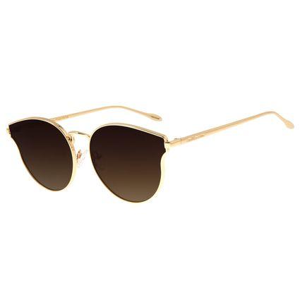 Óculos de Sol Unissex Chilli Beans Redondo Dourado OC.MT.2682-5721