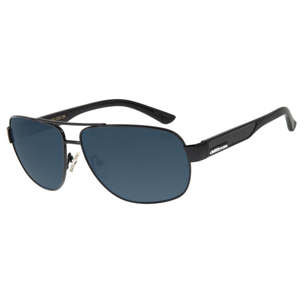 Óculos de Sol Masculino Chilli Beans Executivo Polarizado Flash OC.MT.2699-0001