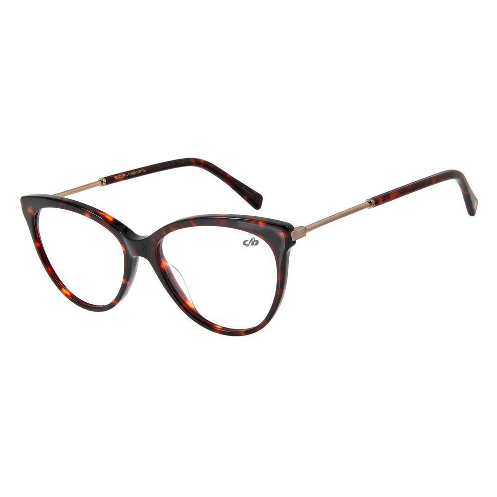 Armação Para Óculos De Grau Feminino Gatinho Tartaruga LV.AC.0528-0602