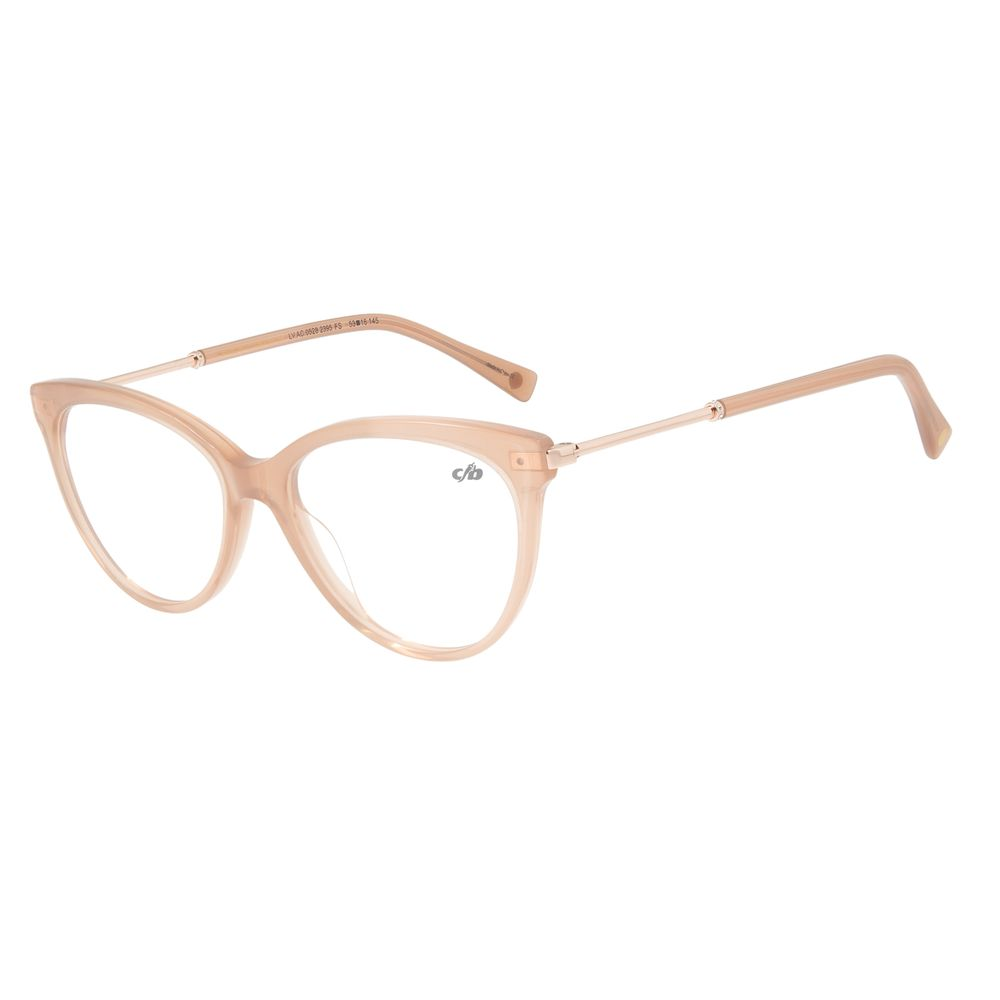 Armação Para Óculos De Grau Feminino Gatinho BegeLV.AC.0528-2395