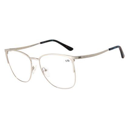Armação Para Óculos De Grau Feminino Metal Prata LV.MT.0324-0707