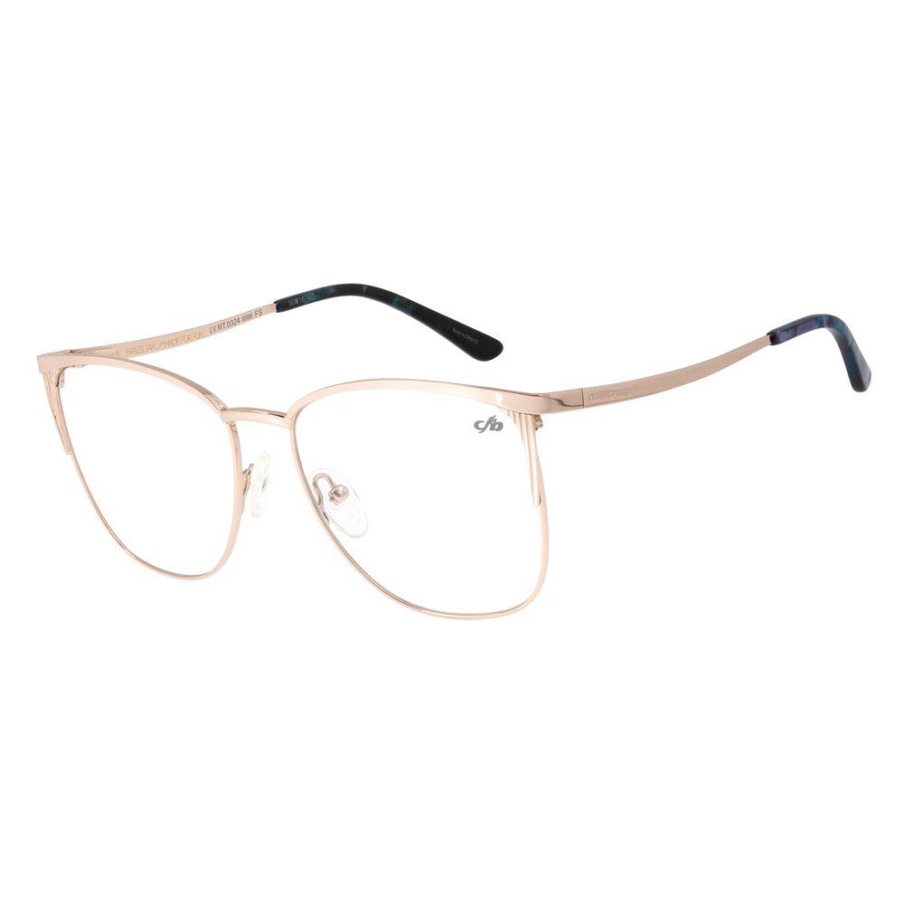 Armação Para Óculos De Grau Feminino Metal Rosê LV.MT.0324-9595