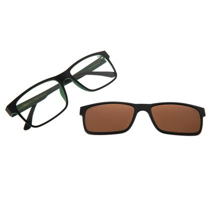 Armação Para Óculos De Grau Masculino Multi Preto LV.MU.0137.0201 LV.MU.0137-0201