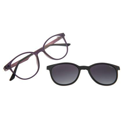 Armação Para Óculos De Grau Feminino Multi Roxo LV.MU.0191-2014