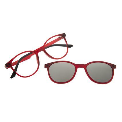 Armação Para Óculos De Grau Feminino Multi Vinho  LV.MU.0191-0017