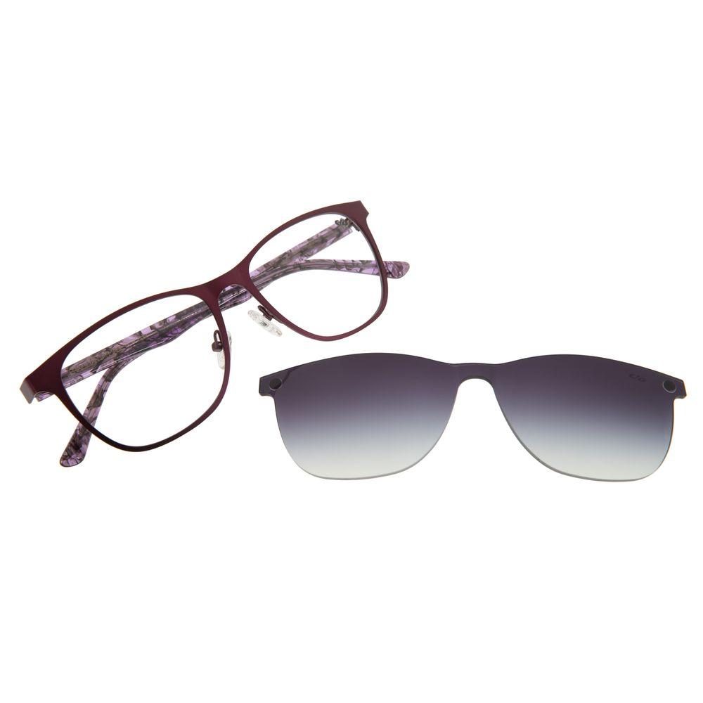 Armação Para Óculos De Grau Feminino Multi Roxo LV.MU.0269-2014