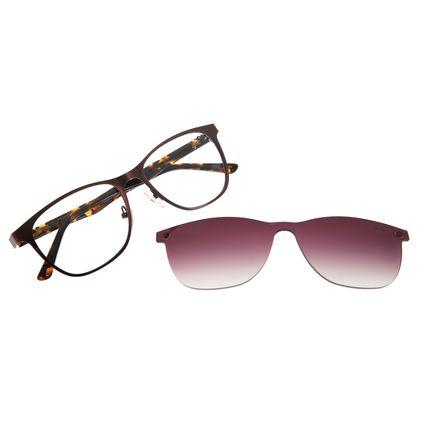 Armação Para Óculos De Grau Feminino Multi Marrom  LV.MU.0269-2002