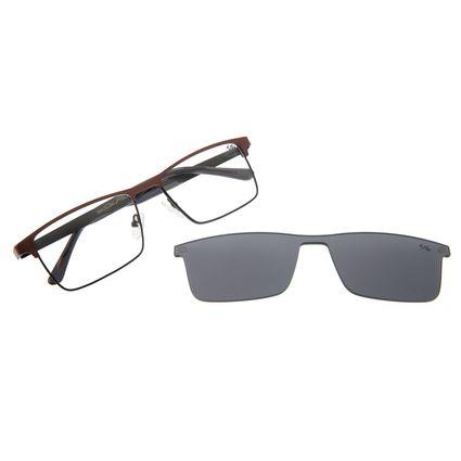 Armação Para Óculos De Grau Masculin Multi Cinza LV.MU.0286-0401