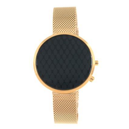 Relógio Digital Feminino Chilli Beans Metal Dourado RE.MT.0915-2221