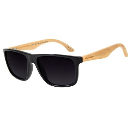 Óculos de Sol Masculino Chilli Beans Bamboo Polarizado Preto OC.CL.2619-2001