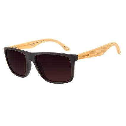 Óculos de Sol Masculino Chilli Beans Bamboo Polarizado Marrom OC.CL.2619-5702