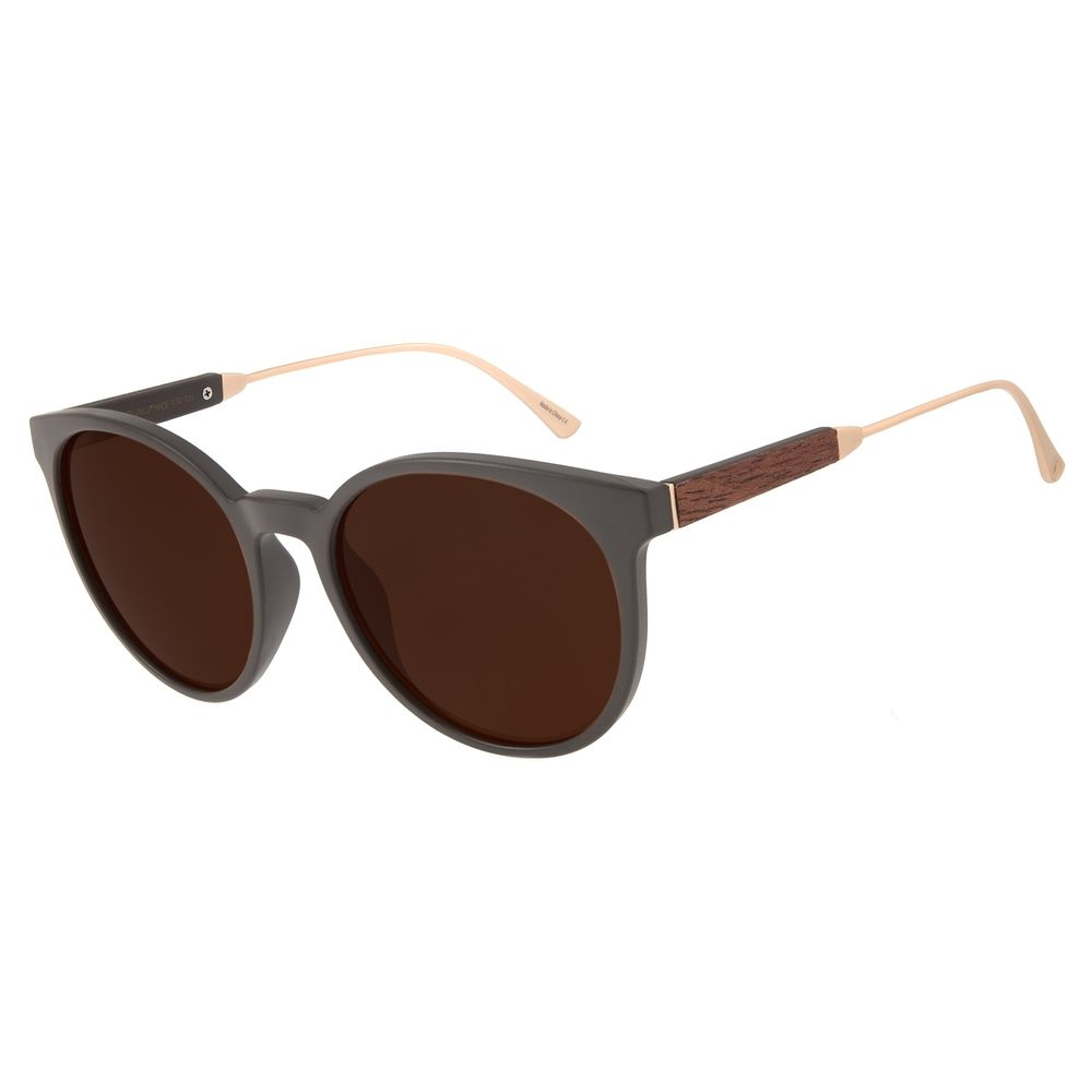 Óculos de Sol Feminino Chilli Beans Redondo Marrom OC.CL.2826-0247