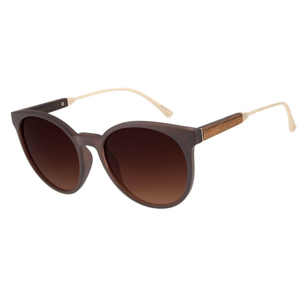 Óculos de Sol Feminino Chilli Beans Redondo Marrom  OC.CL.2826-2002