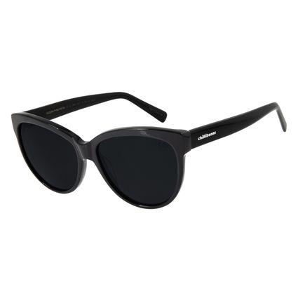 Óculos De Sol Feminino Chilli Beans Redondo Polarizado Preto OC.CL.2844-0401