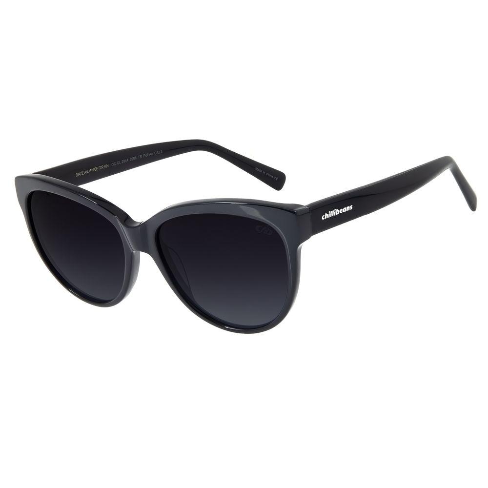 Óculos De Sol Feminino Chilli Beans Redondo Polarizado Azul OC.CL.2844-2008