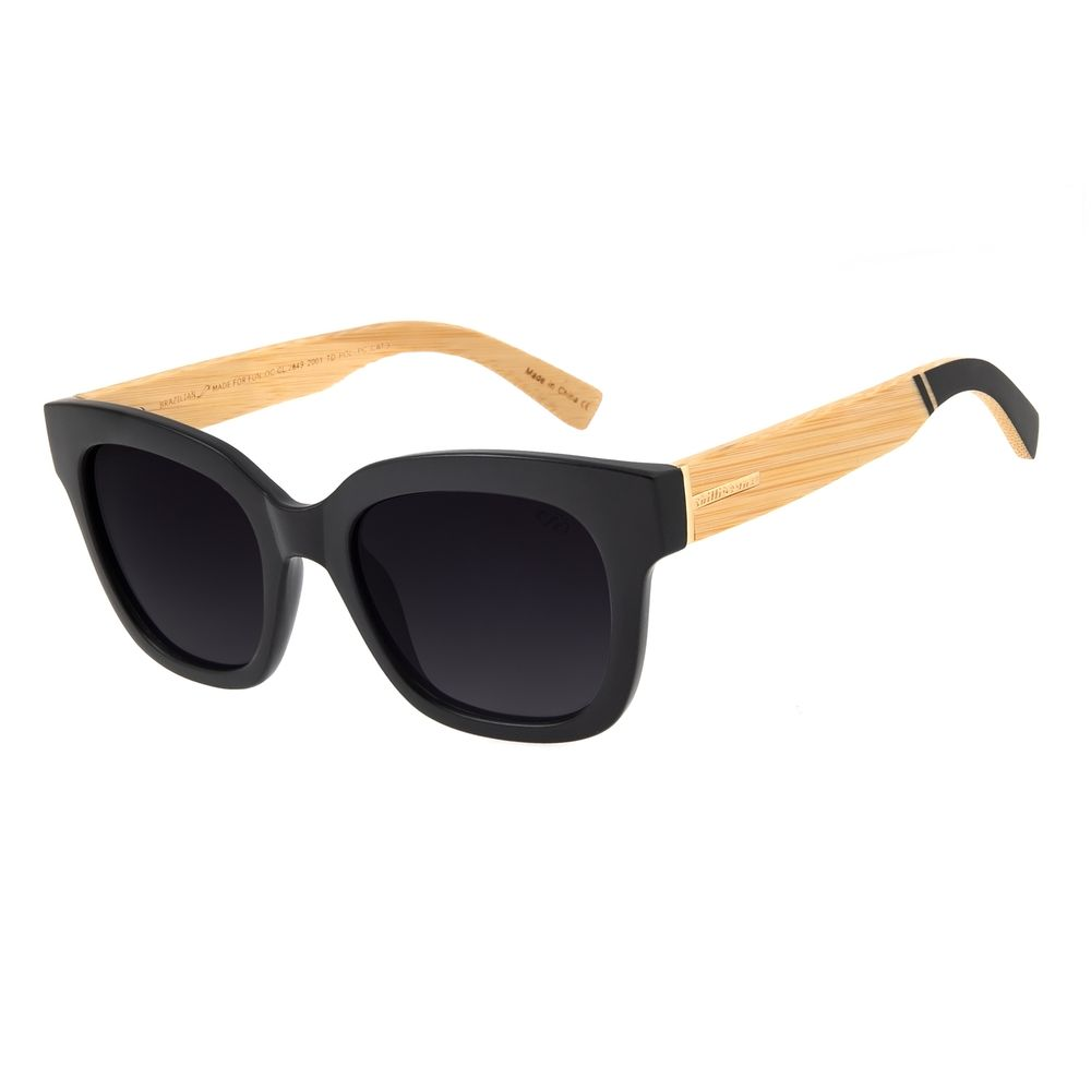 Óculos de Sol Feminino Chilli Beans Quadrado Polarizado Preto OC.CL.2849-2001
