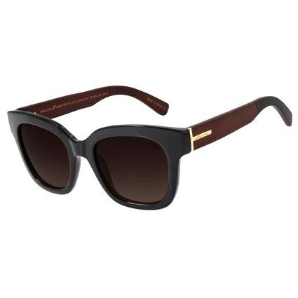 Óculos de Sol Feminino Chilli Beans Quadrado Polarizado Marrom OC.CL.2849-5701