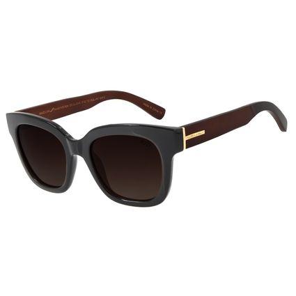Óculos de Sol Feminino Chilli Beans Quadrado Polarizado Marrom OC.CL.2849-5702