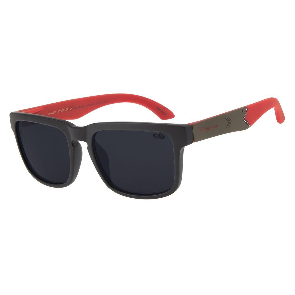 Óculos De Sol Infantil Chilli Beans Bossa Nova Shark Preto OC.KD.0601-0101