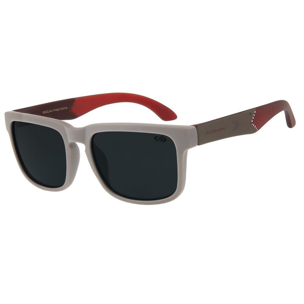 Óculos De Sol Infantil Chilli Beans Bossa Nova Shark Cinza OC.KD.0601-0504