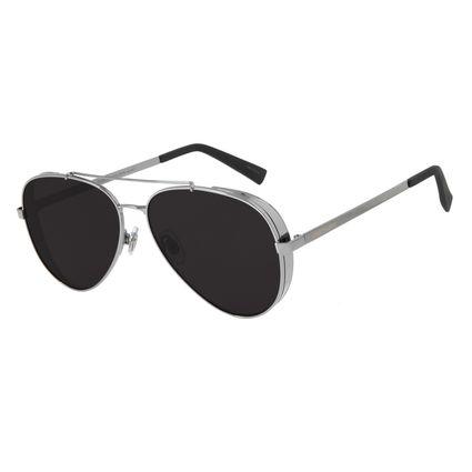 Óculos de Sol Unissex Chilli Beans Aviador Metal Ônix OC.MT.2429-0122