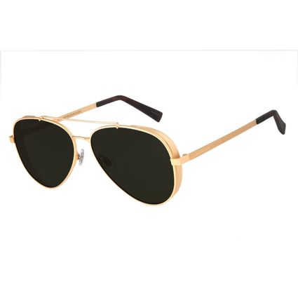 Óculos de Sol Unissex Chilli Beans Aviador Metal Dourado OC.MT.2429-1521
