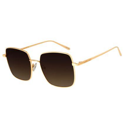 Óculos de Sol Feminino Chilli Beans Banhado A Ouro Degradê Marrom OC.MT.2573-5721
